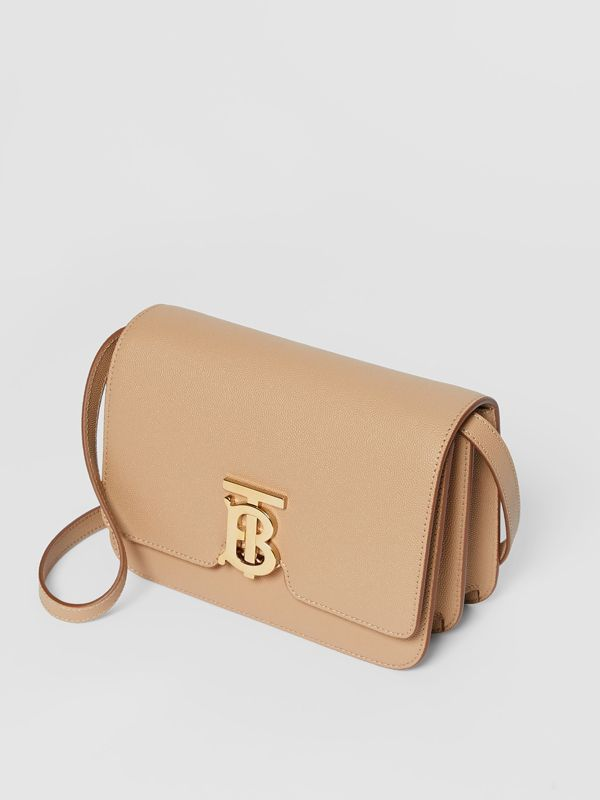 Small Grainy Leather TB Bag in Archive Beige - Women | Burberry - cell image 3
