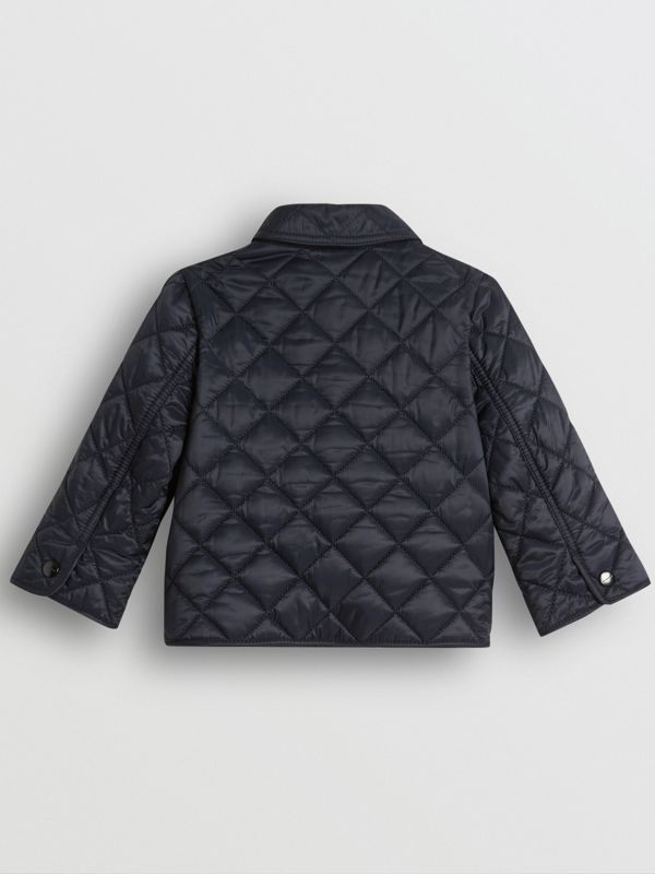 Lightweight Diamond Quilted Jacket in Ink - Children | Burberry - cell image 3