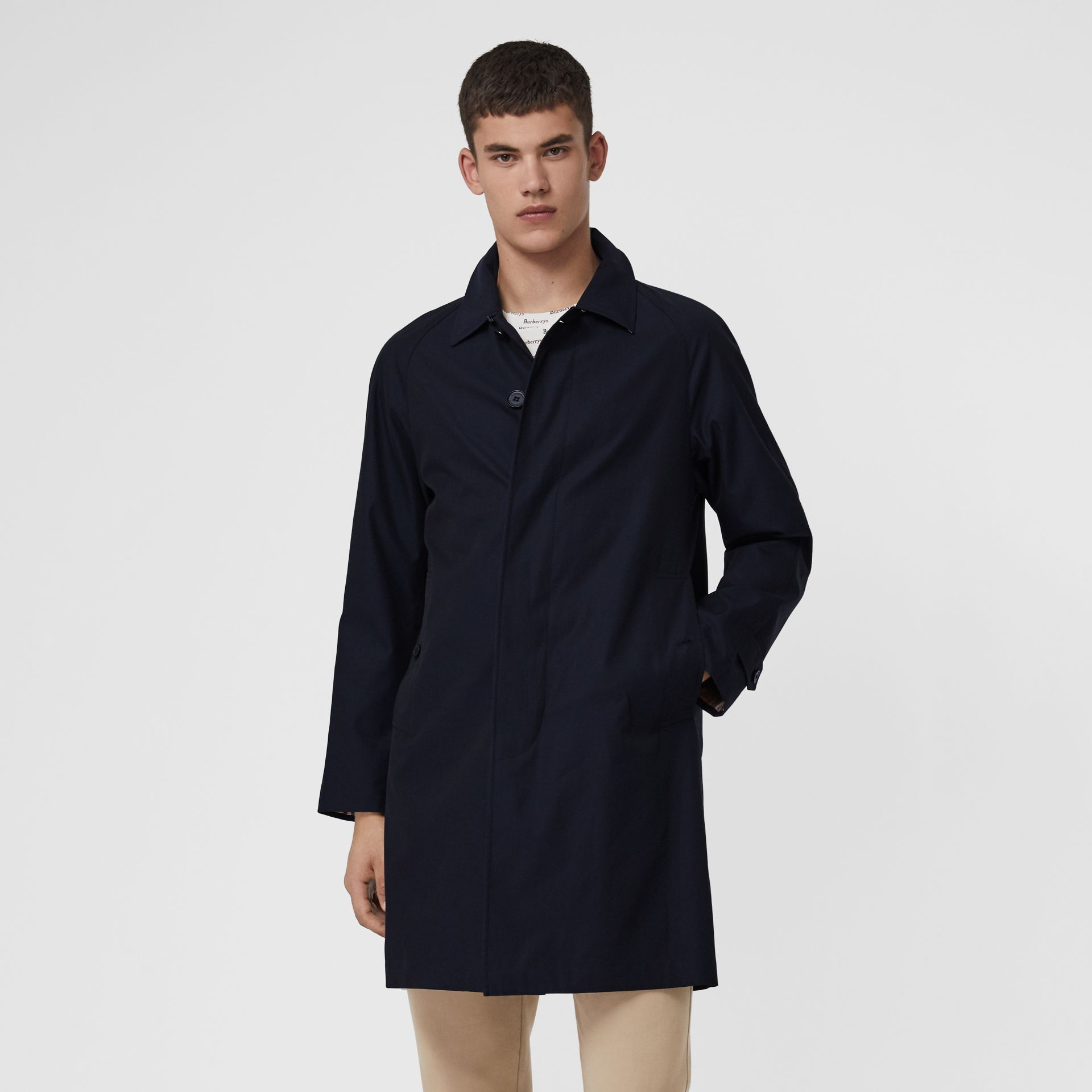 The Camden Car Coat in Blue Carbon - Men | Burberry United Kingdom - gallery image 6