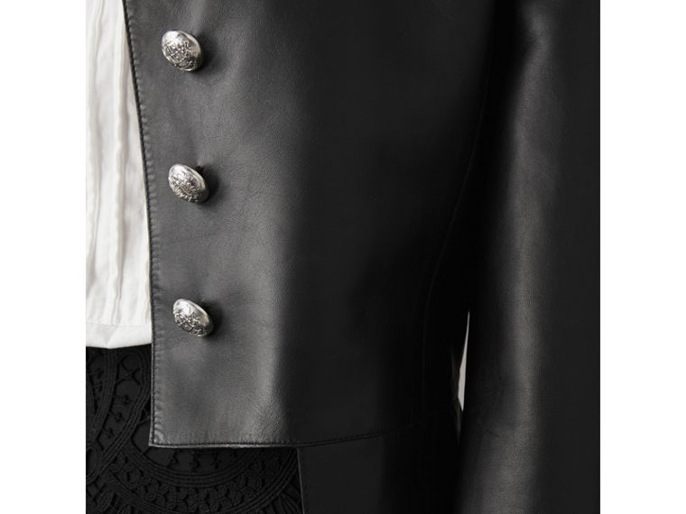 Lambskin Military Jacket in Black - Women | Burberry - cell image 1