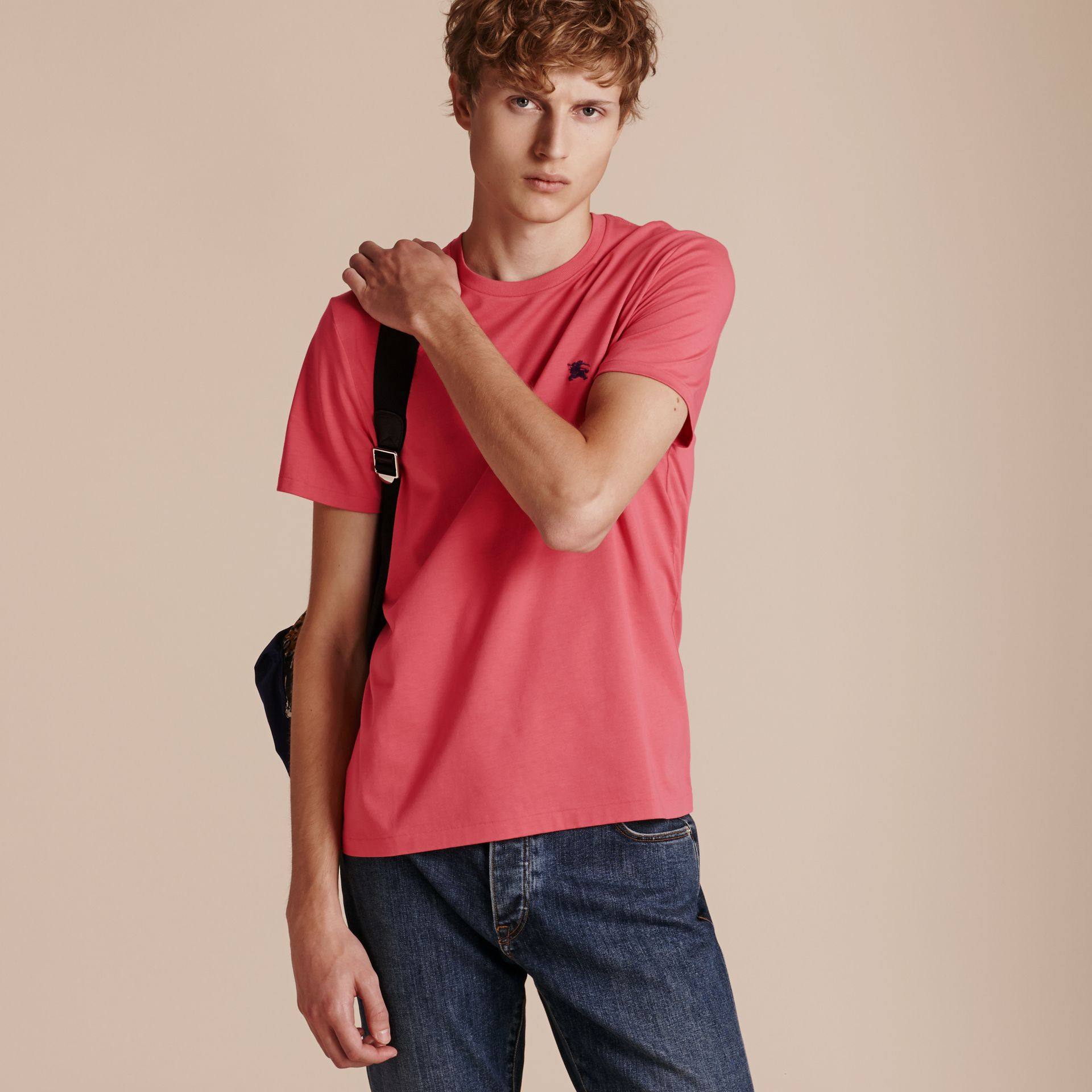 Cotton Jersey T-shirt Dusky Pink - gallery image 6