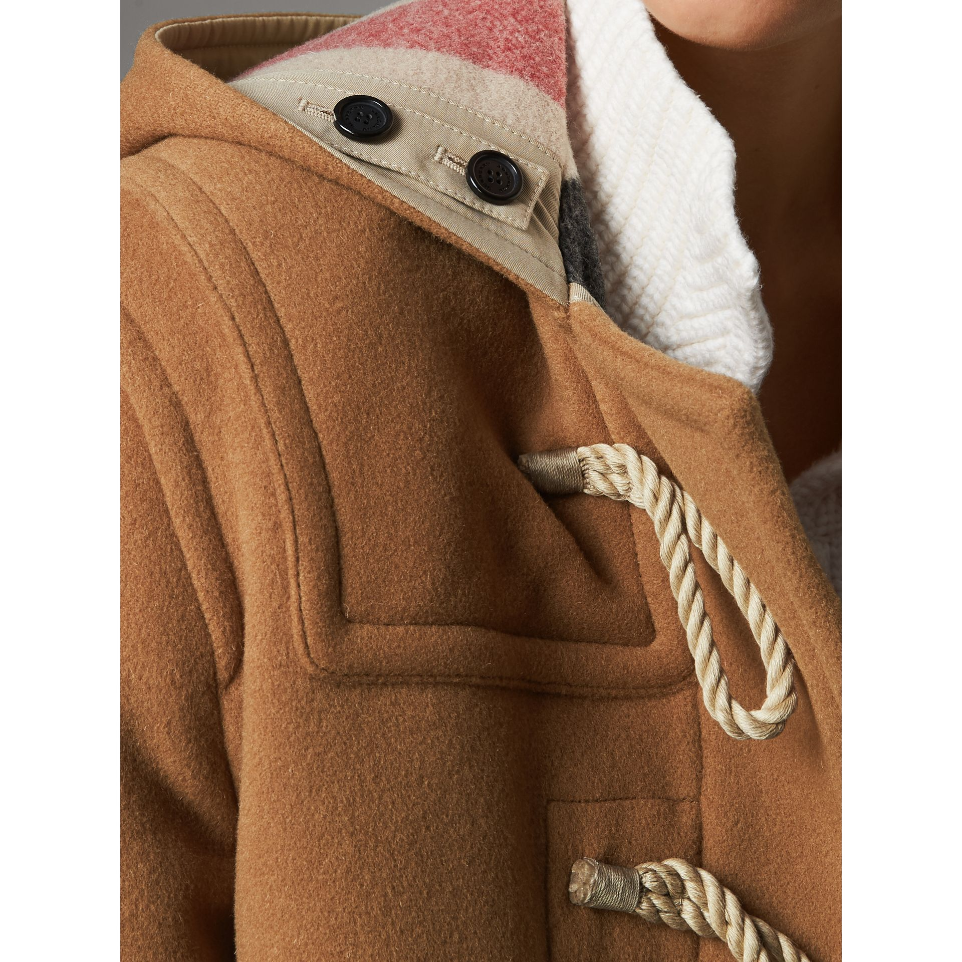 The Greenwich Duffle Coat in Mid Camel - Women | Burberry Canada - gallery image 4