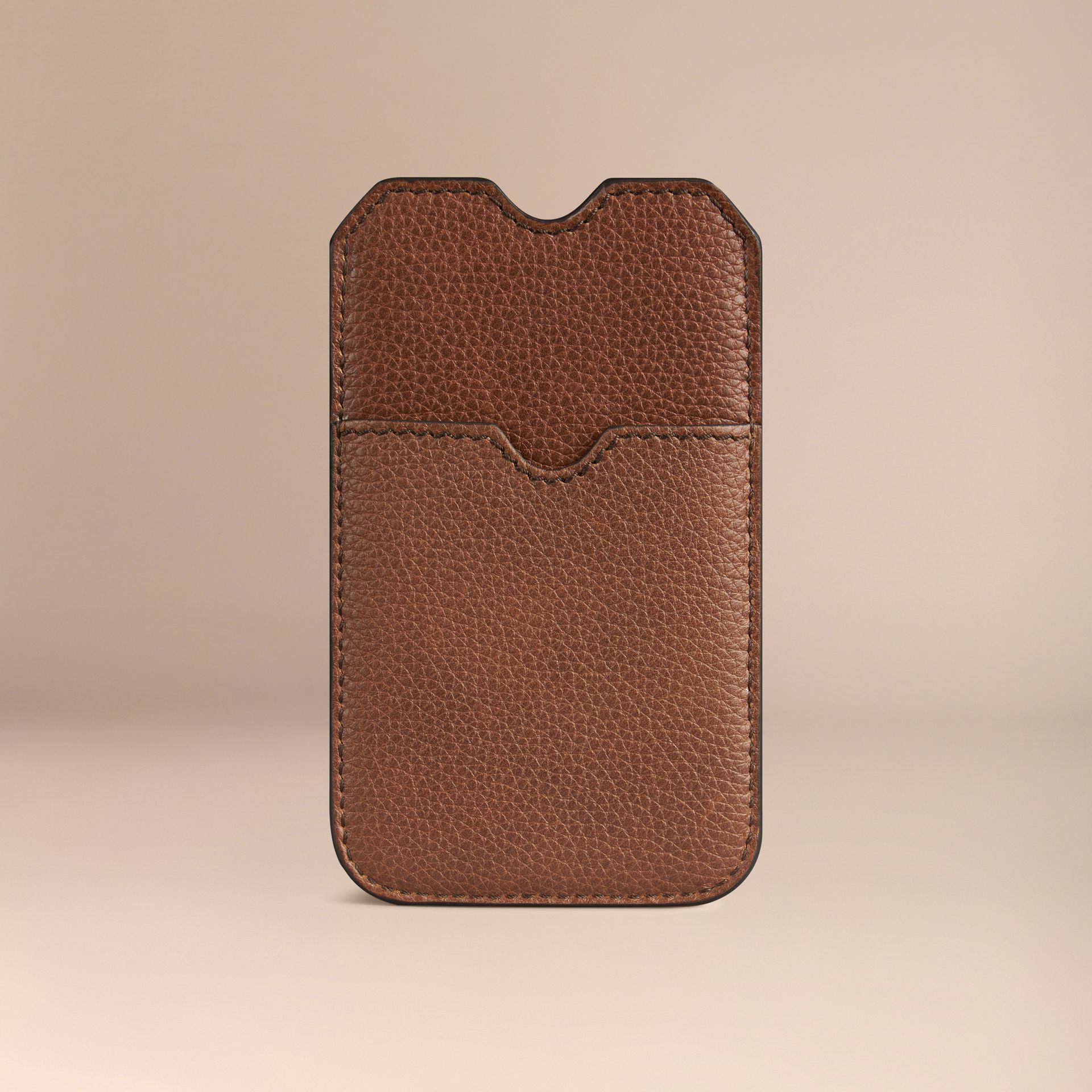 Grainy Leather iPhone 5/5S Case in Tan | Burberry - gallery image 2