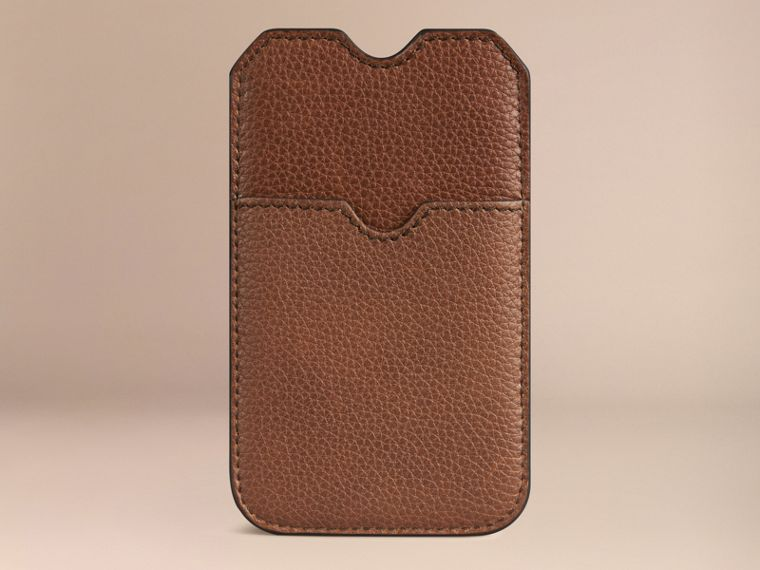 Grainy Leather iPhone 5/5S Case in Tan | Burberry - cell image 1