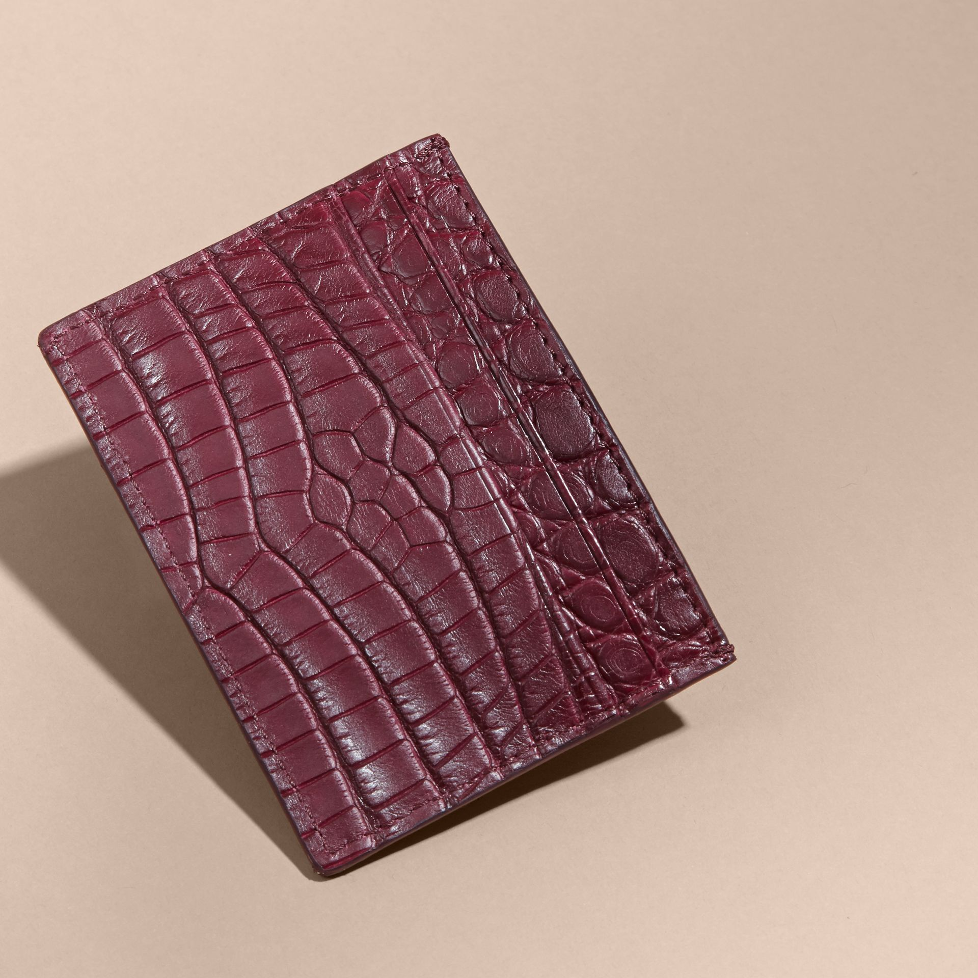 Alligator Leather Card Case - gallery image 4