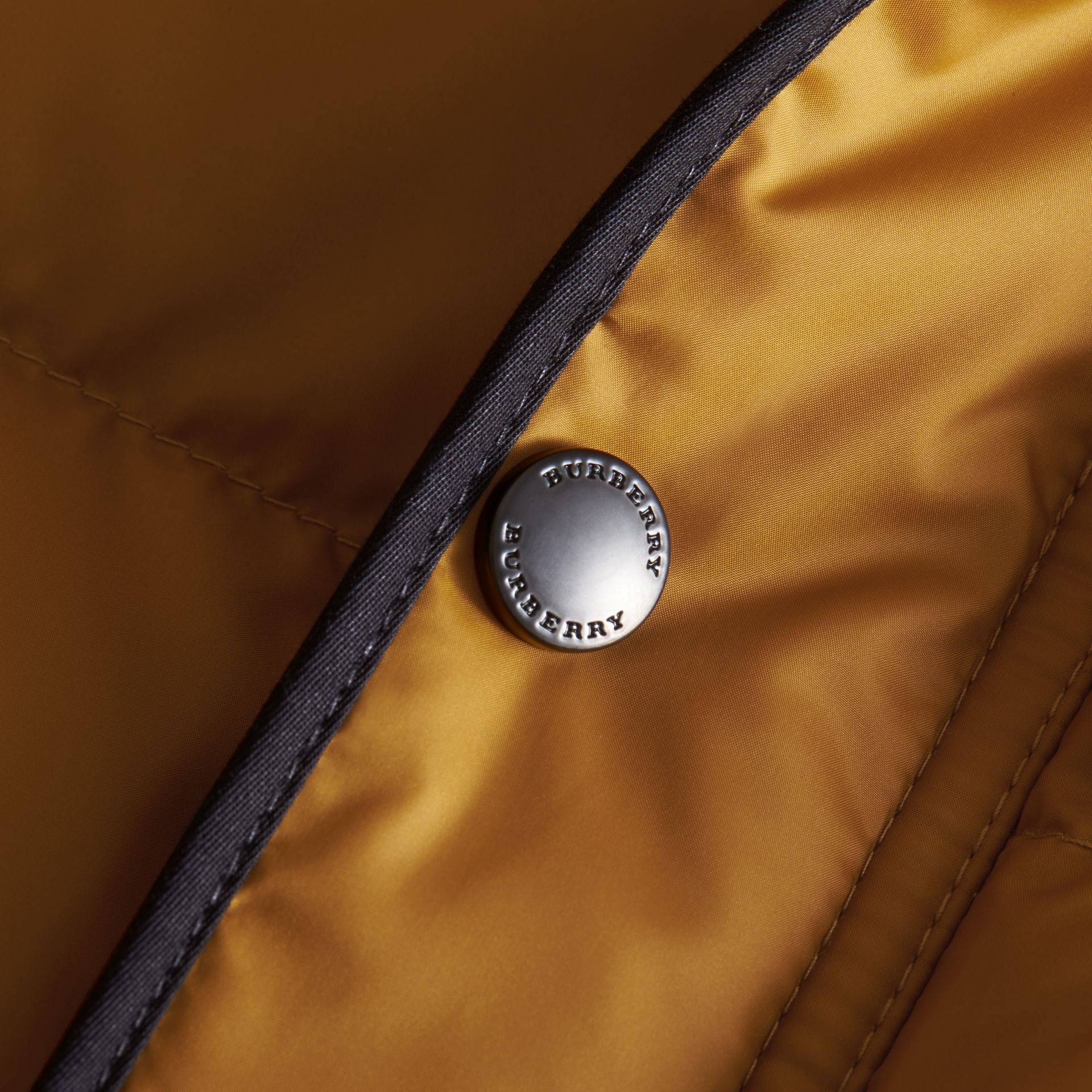 Down-filled Hooded Gilet in Umber Yellow - Boy | Burberry - gallery image 2
