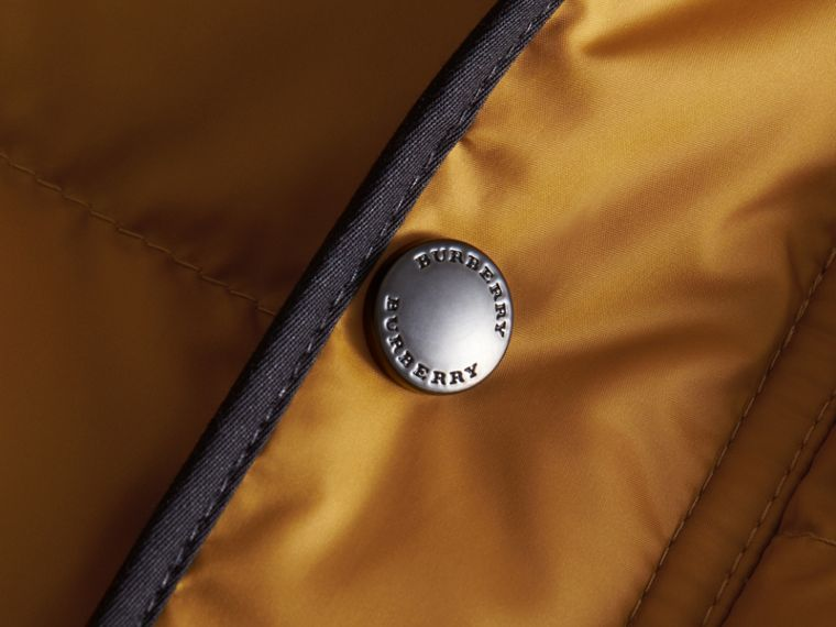 Down-filled Hooded Gilet in Umber Yellow - Boy | Burberry - cell image 1
