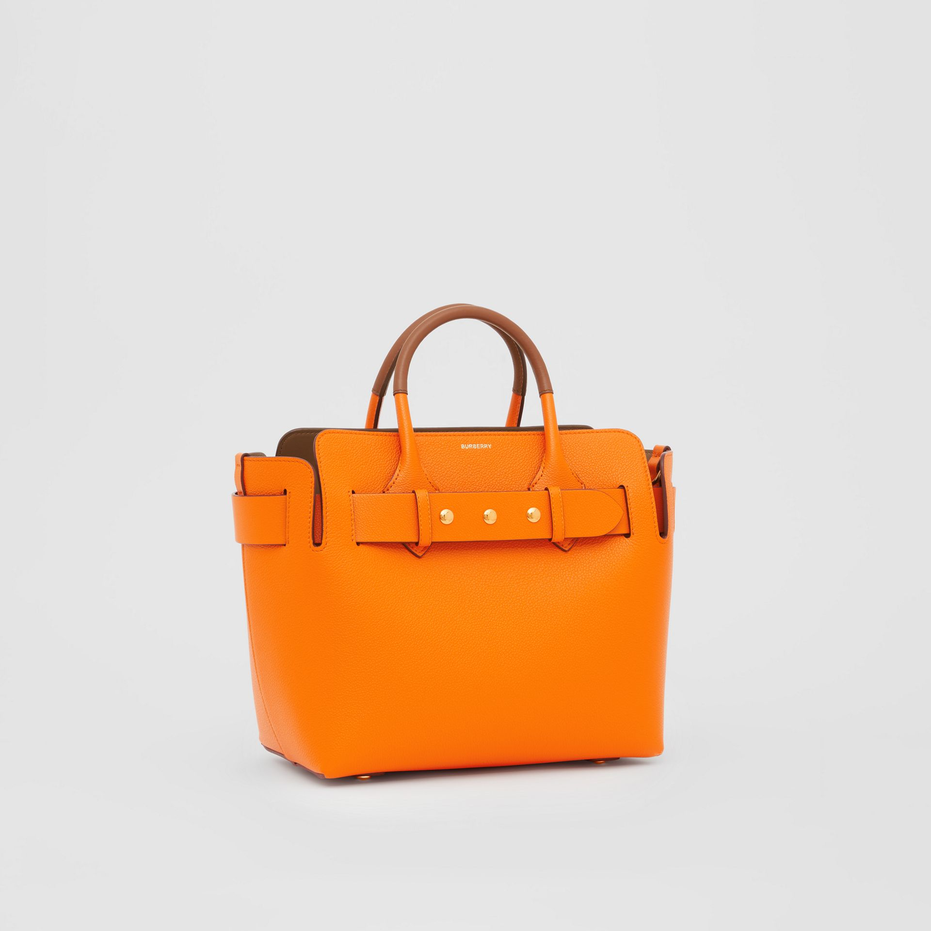 The Small Leather Triple Stud Belt Bag in Bright Orange - Women | Burberry - gallery image 6