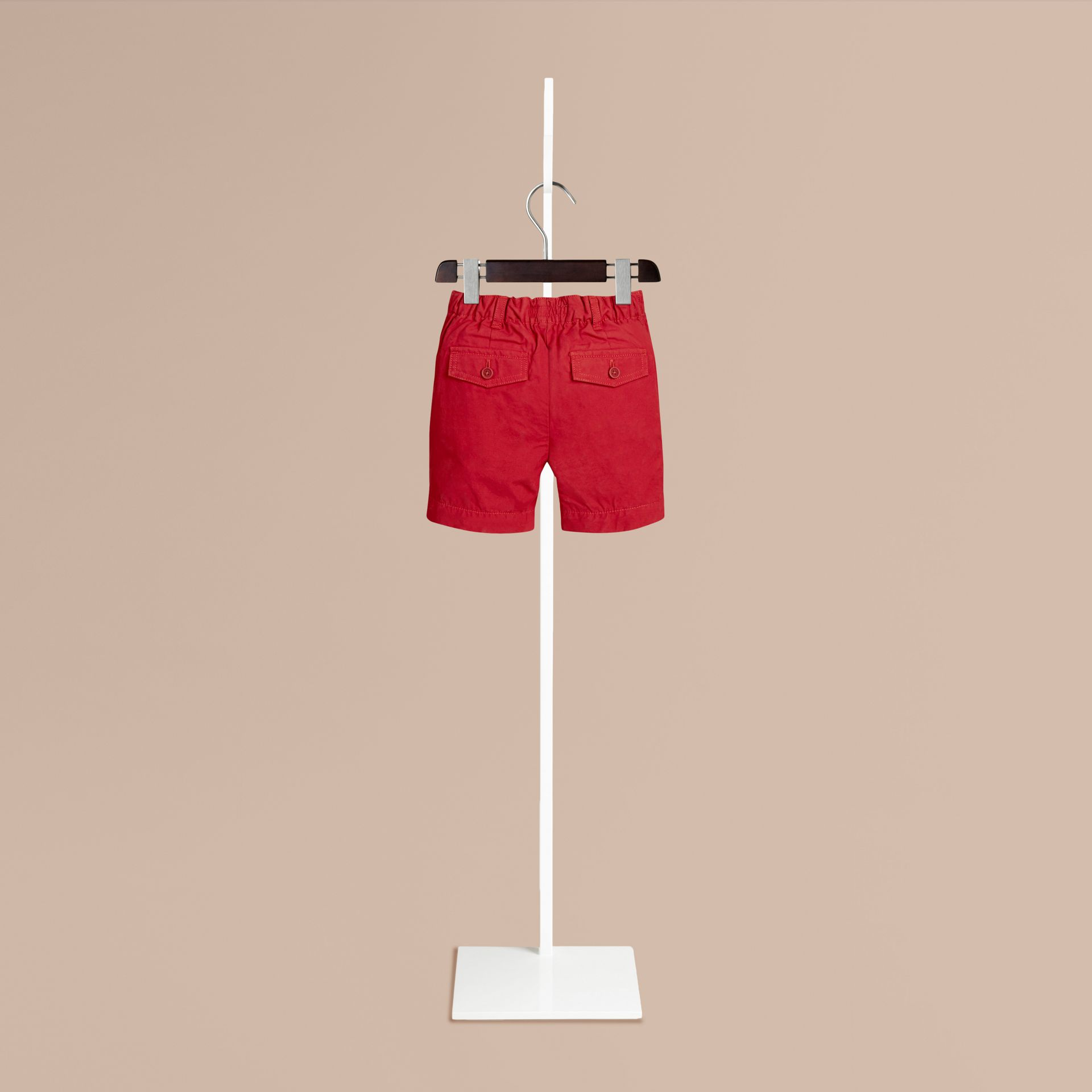 Parade red Cotton Military Chino Shorts Parade Red - gallery image 2