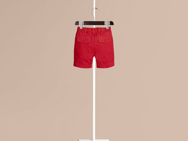 Parade red Cotton Military Chino Shorts Parade Red - cell image 1