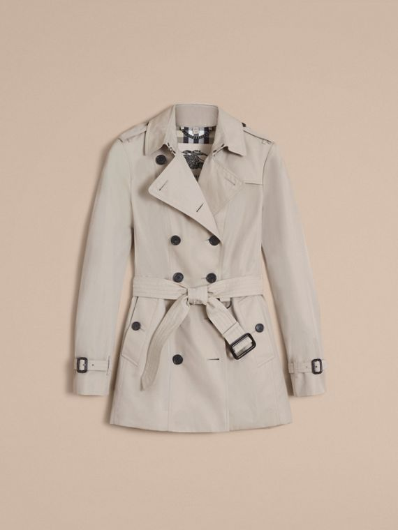 The Sandringham – Short Heritage Trench Coat in Stone - cell image 3