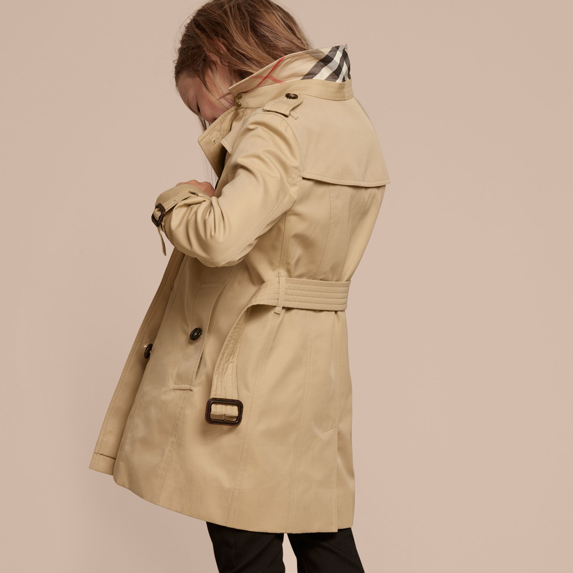 The Sandringham – Heritage Trench Coat in Honey - gallery image 4