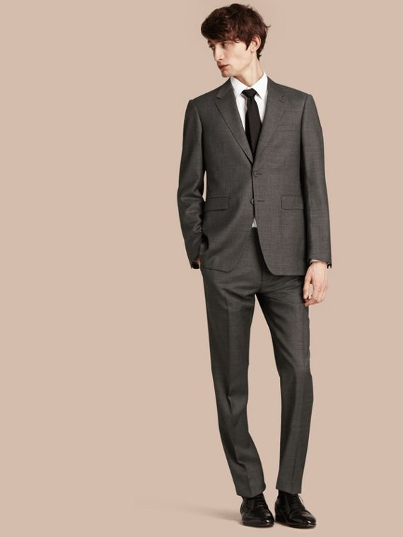 Modern Fit Travel Tailoring Virgin Wool Suit - Men | Burberry Australia