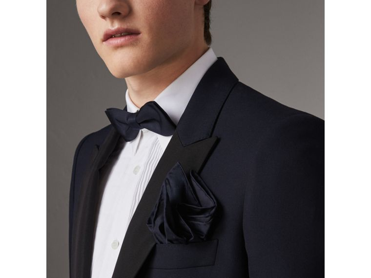 Silk Pocket Square in Midnight - Men | Burberry Canada - cell image 2
