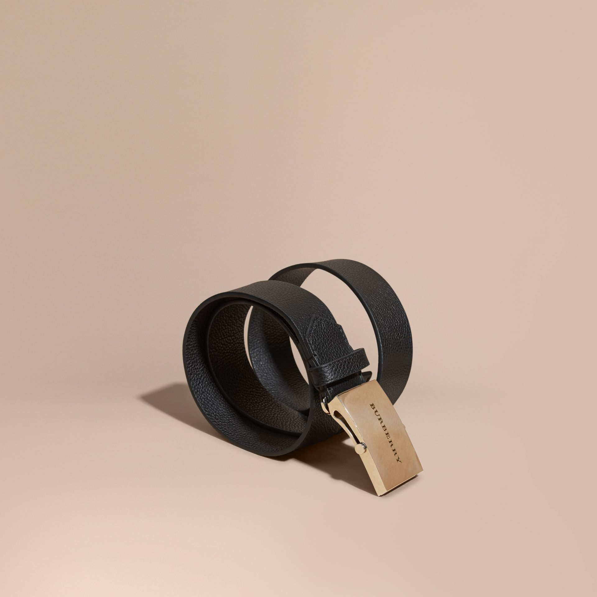 Grainy Leather Belt - Women | Burberry - gallery image 1