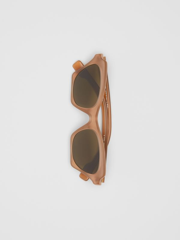 Butterfly Frame Sunglasses in Brown - Women | Burberry United States - cell image 3
