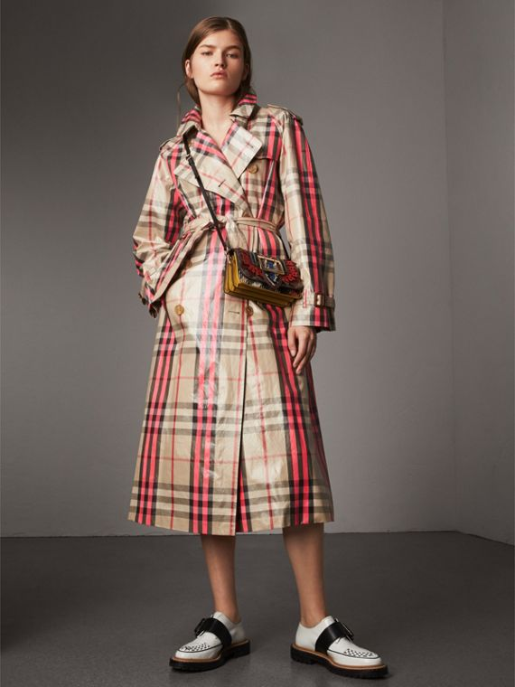 The Patchwork in Exotics and Punched Leather in Yellow/plum - Women | Burberry Australia - cell image 2