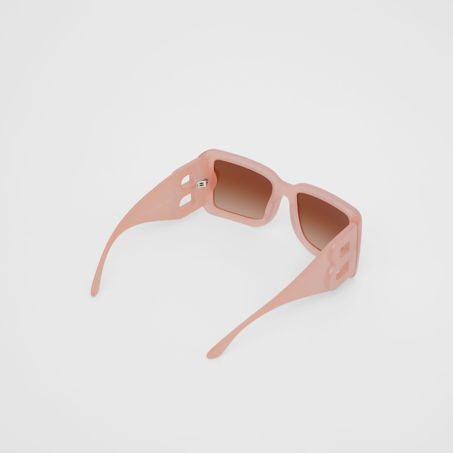 B Motif Square Frame Sunglasses in Pink - Women | Burberry Australia - gallery image 3