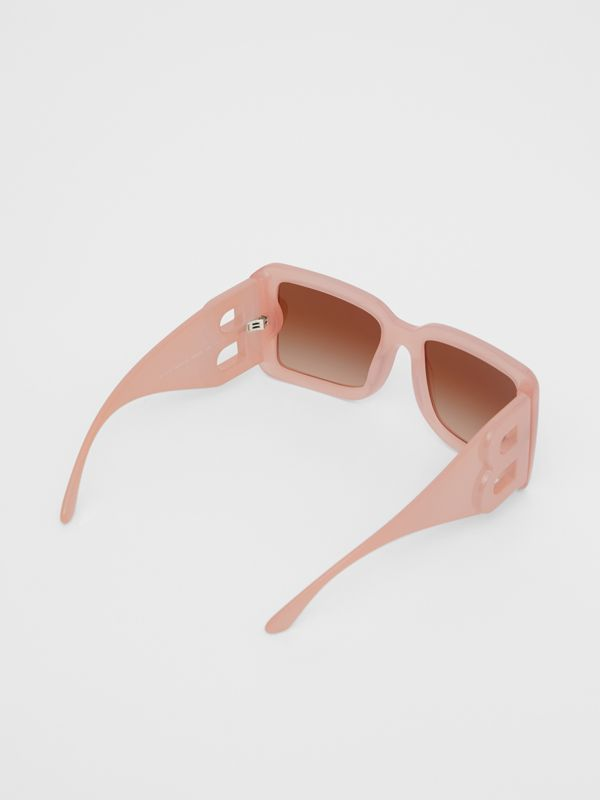 B Motif Square Frame Sunglasses in Pink - Women | Burberry Australia - cell image 3