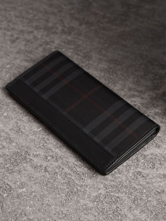Horseferry Check Continental Wallet in Charcoal/black - Men | Burberry Canada - cell image 2