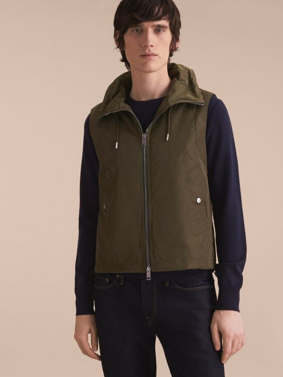 Lightweight Cotton Car Coat with Detachable Gilet Stone - cell image 2