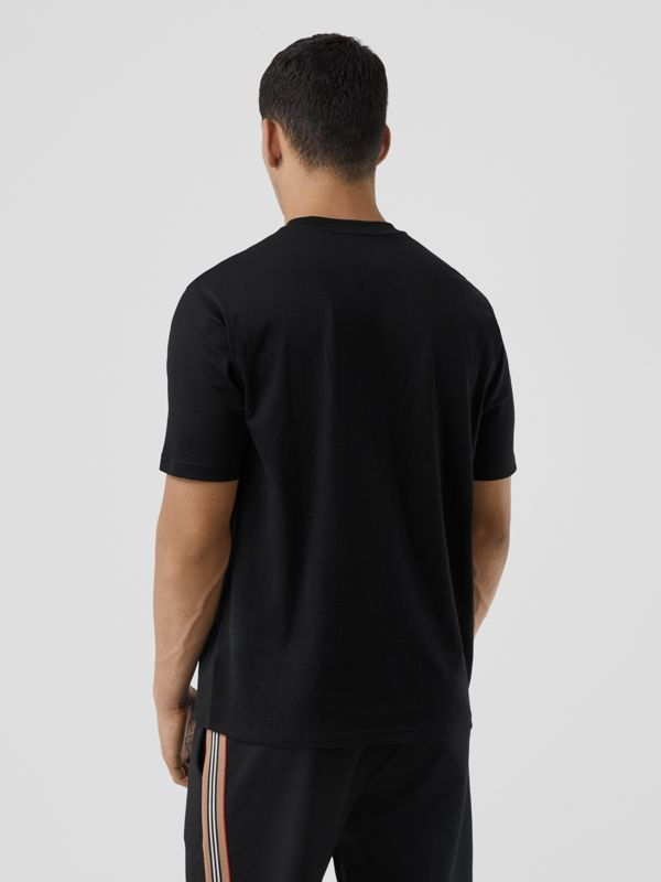 Logo Graphic Cotton T-shirt in Black - Men | Burberry United Kingdom - cell image 3