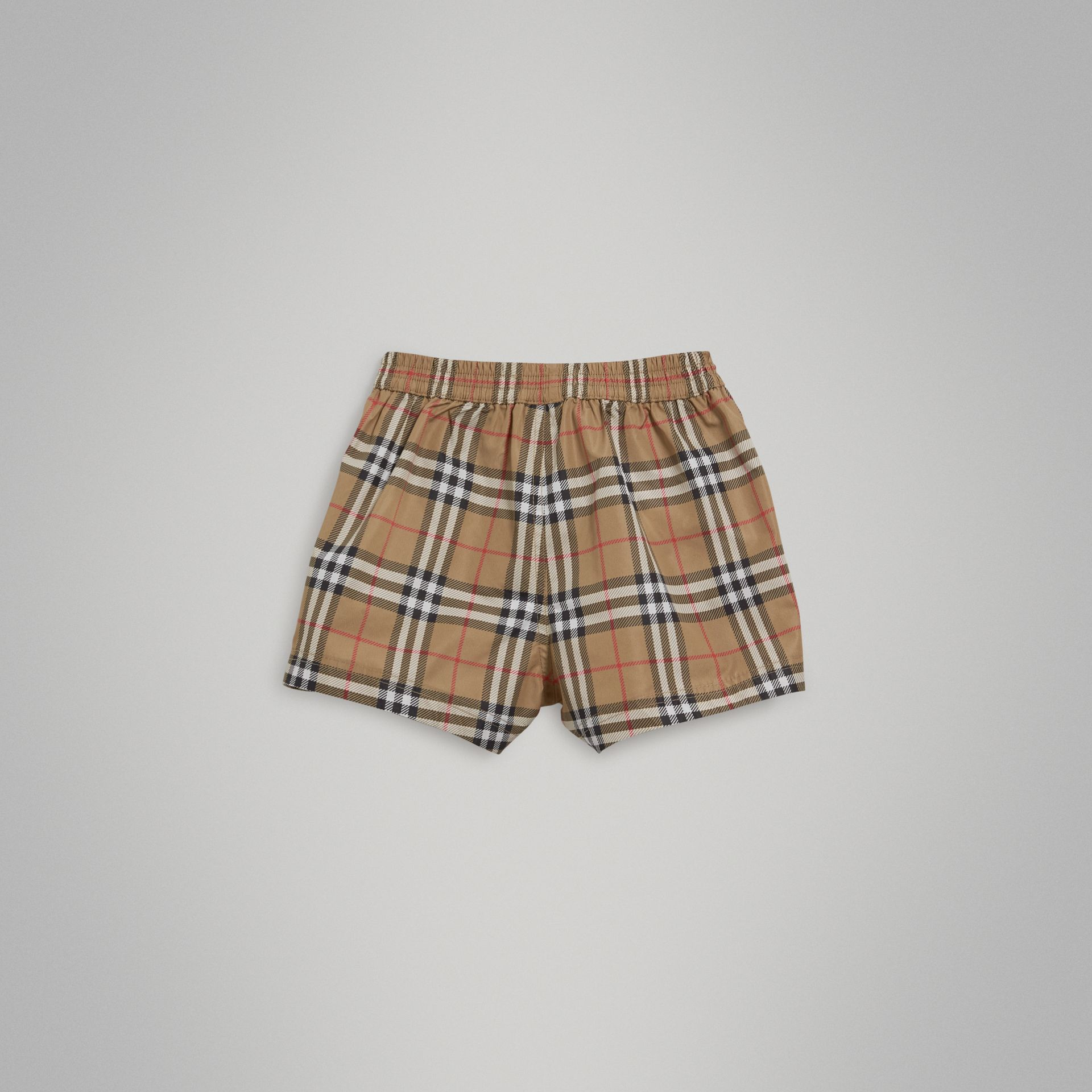 Check Swim Shorts in Camel | Burberry - gallery image 3