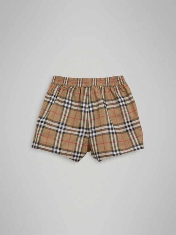 Check Swim Shorts in Camel | Burberry - cell image 3