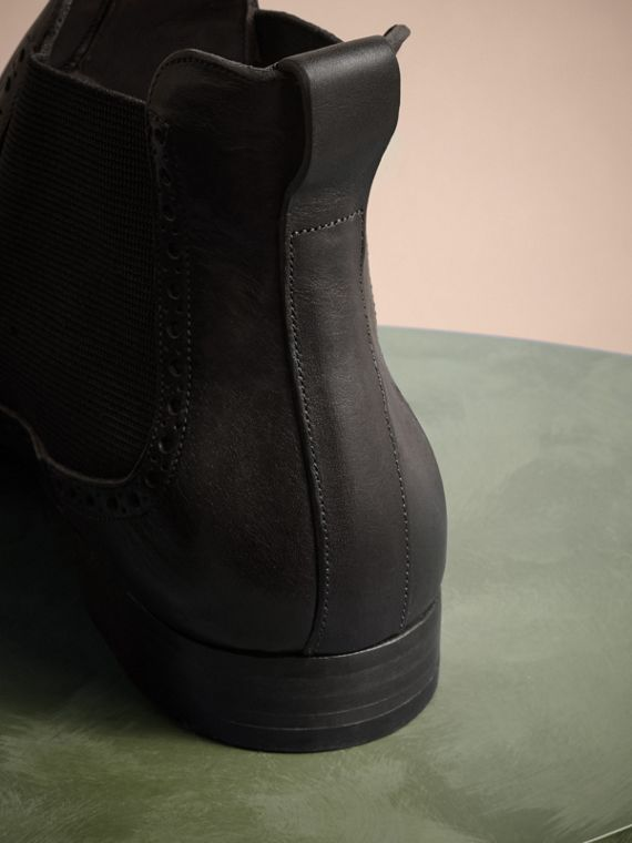 Ebony Washed-leather Chelsea Boots - cell image 3