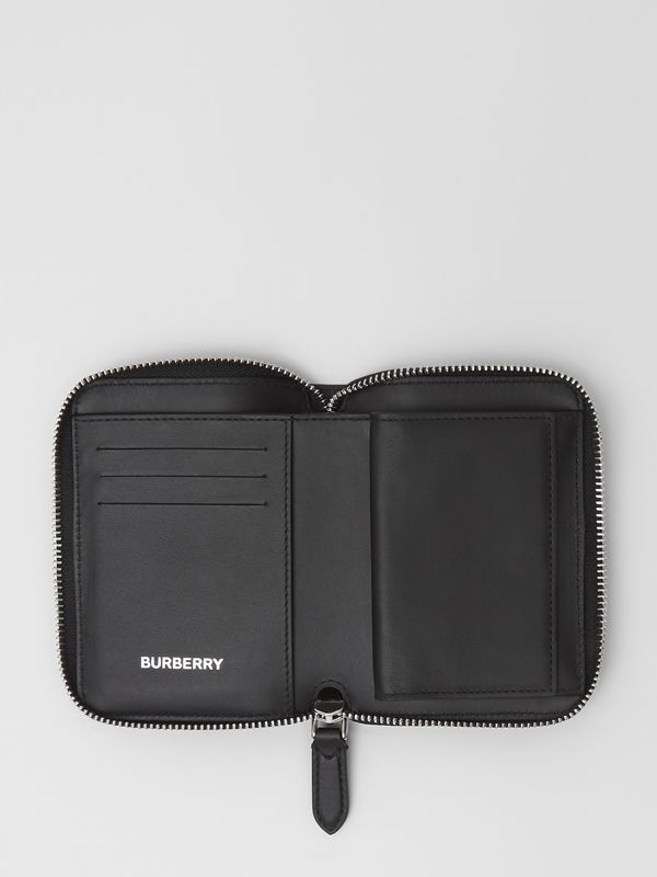 Vintage Check E-canvas Ziparound Wallet in Black - Women | Burberry - cell image 2