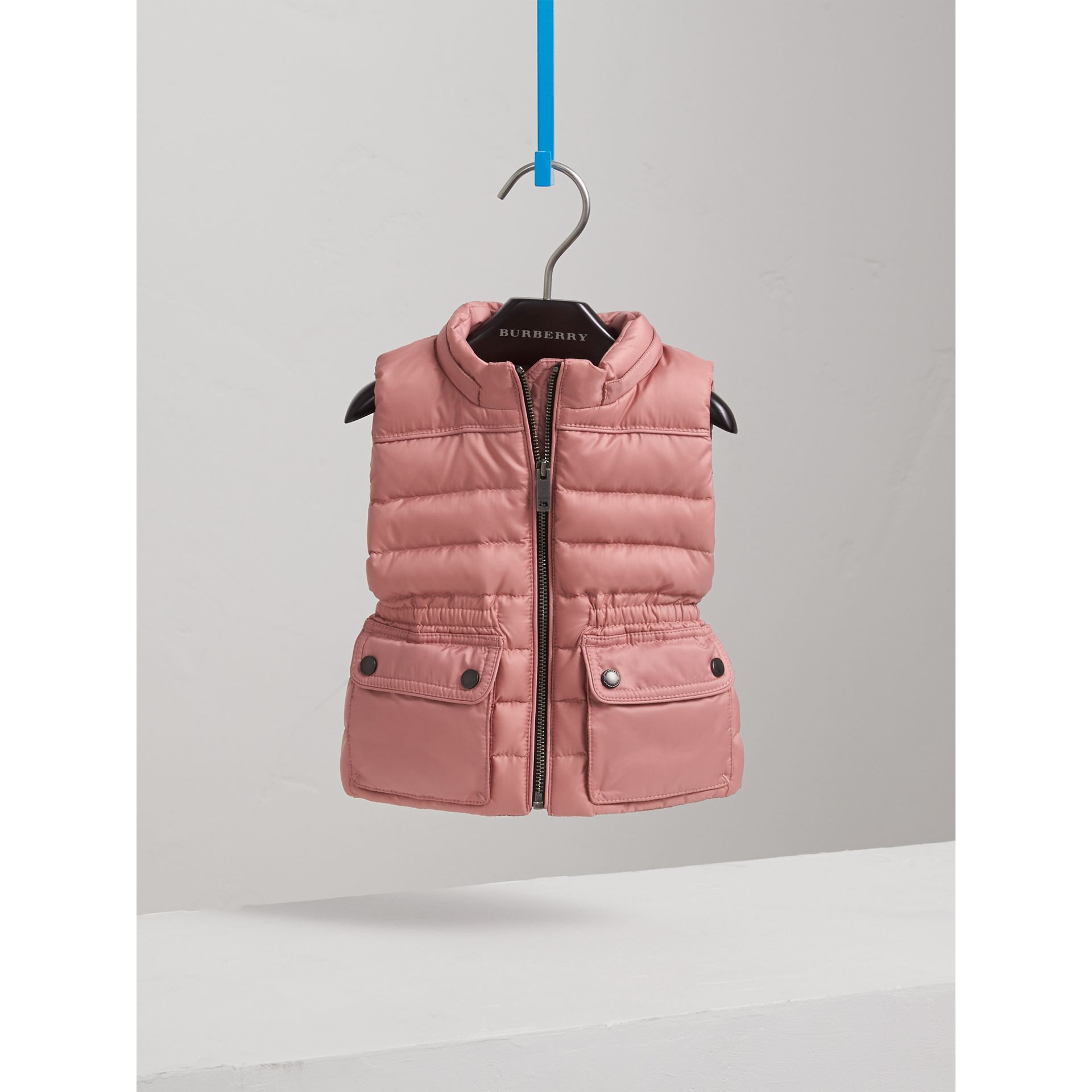 Down-filled Gilet with Detachable Hood in Pale Rose | Burberry United Kingdom - gallery image 3