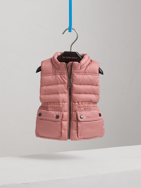 Down-filled Gilet with Detachable Hood in Pale Rose | Burberry - cell image 2