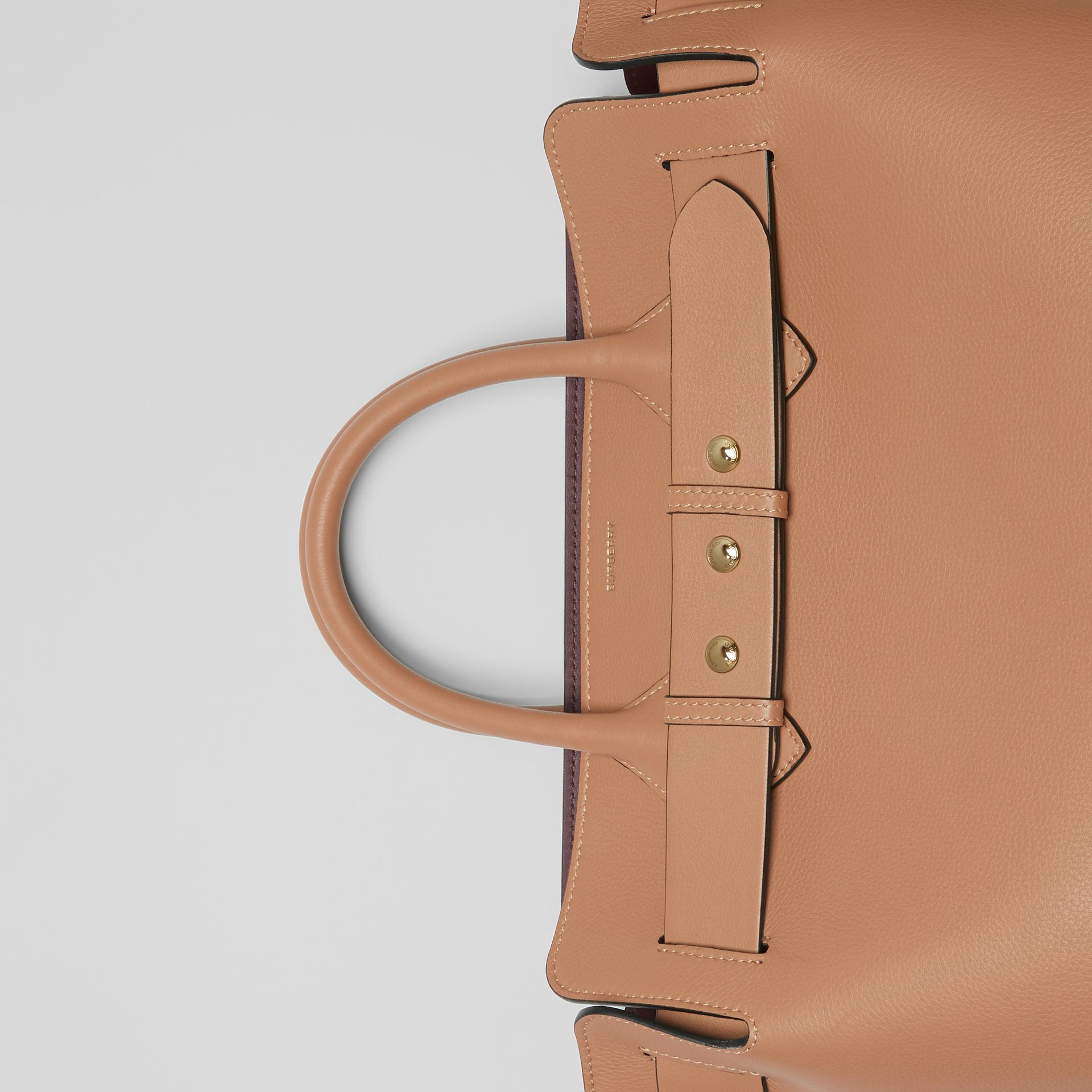 The Medium Leather Triple Stud Belt Bag in Light Camel - Women | Burberry Canada - gallery image 1