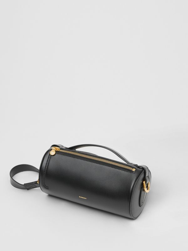 The Kingdom Motif Leather Barrel Bag in Black - Women | Burberry - cell image 3