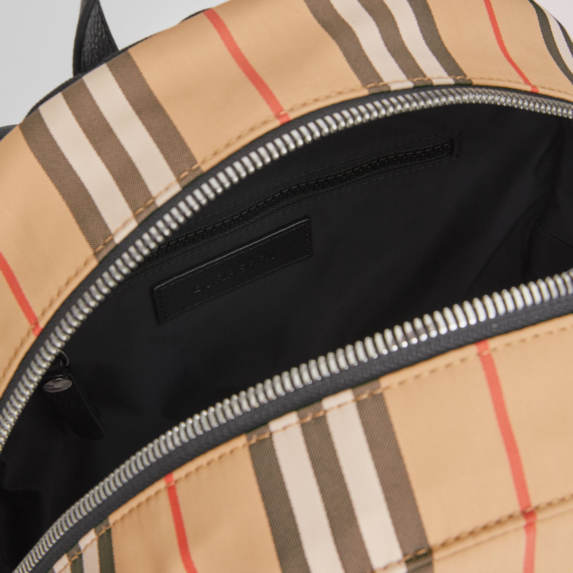 Icon Stripe Nylon Backpack in Archive Beige - Children | Burberry Canada - gallery image 3