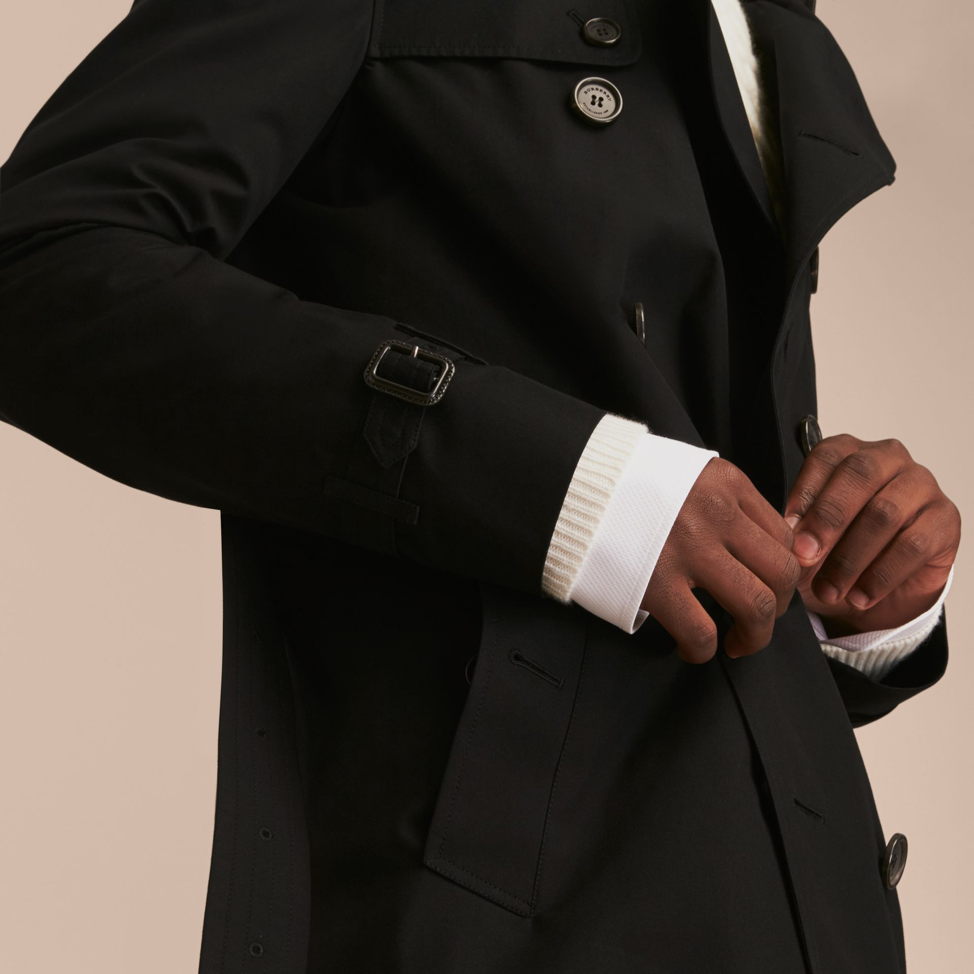 Black The Kensington – Long Heritage Trench Coat Black - gallery image 6