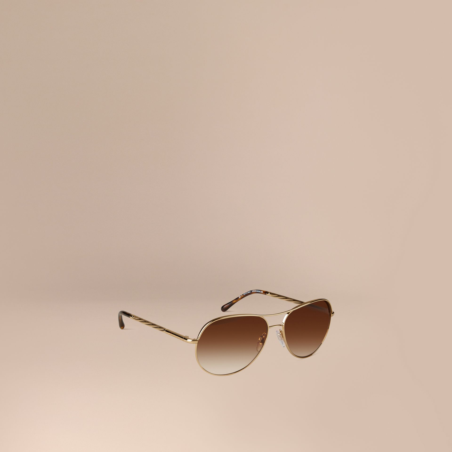 Or Lunettes de soleil Aviator – Collection Gabardine  - photo de la galerie 1