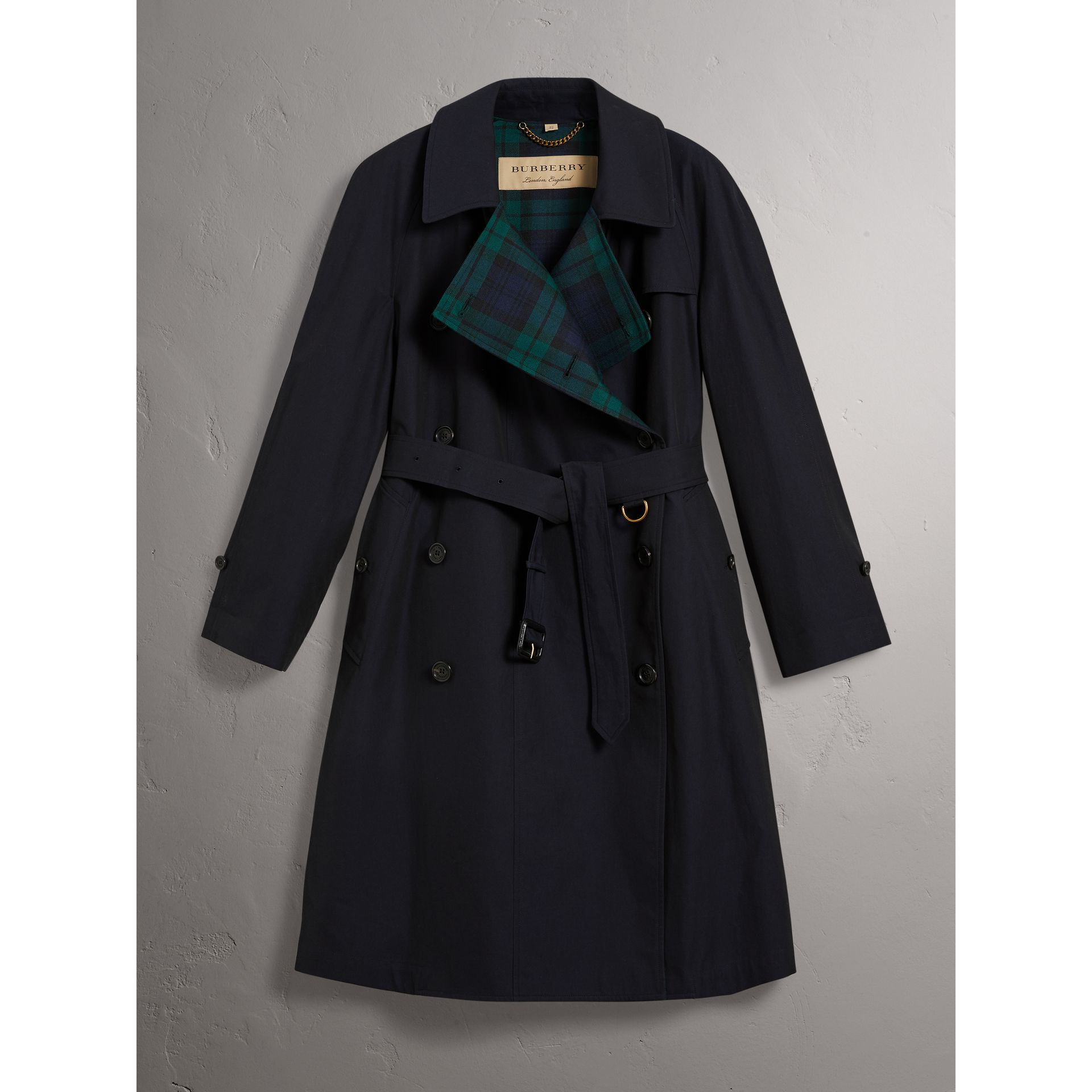 Tropical Gabardine Asymmetric Trench Coat in Blue Carbon - Women | Burberry Australia - gallery image 4