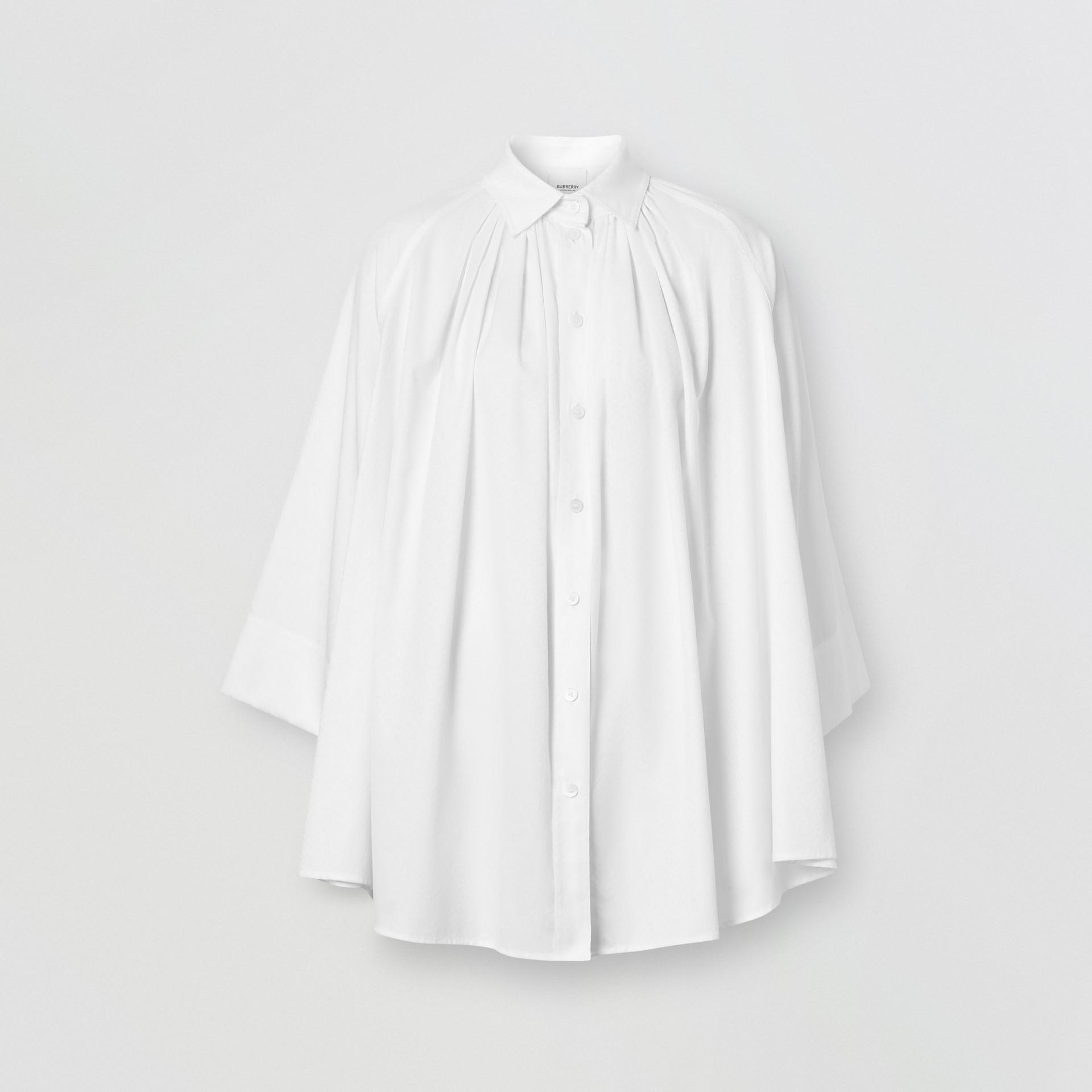 モノグラムコットン ジャカード オーバーサイズシャツ (オプティックホワイト) - ウィメンズ | バーバリー - ギャラリーイメージ 3