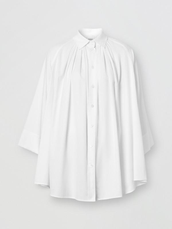 モノグラムコットン ジャカード オーバーサイズシャツ (オプティックホワイト) - ウィメンズ | バーバリー - cell image 3