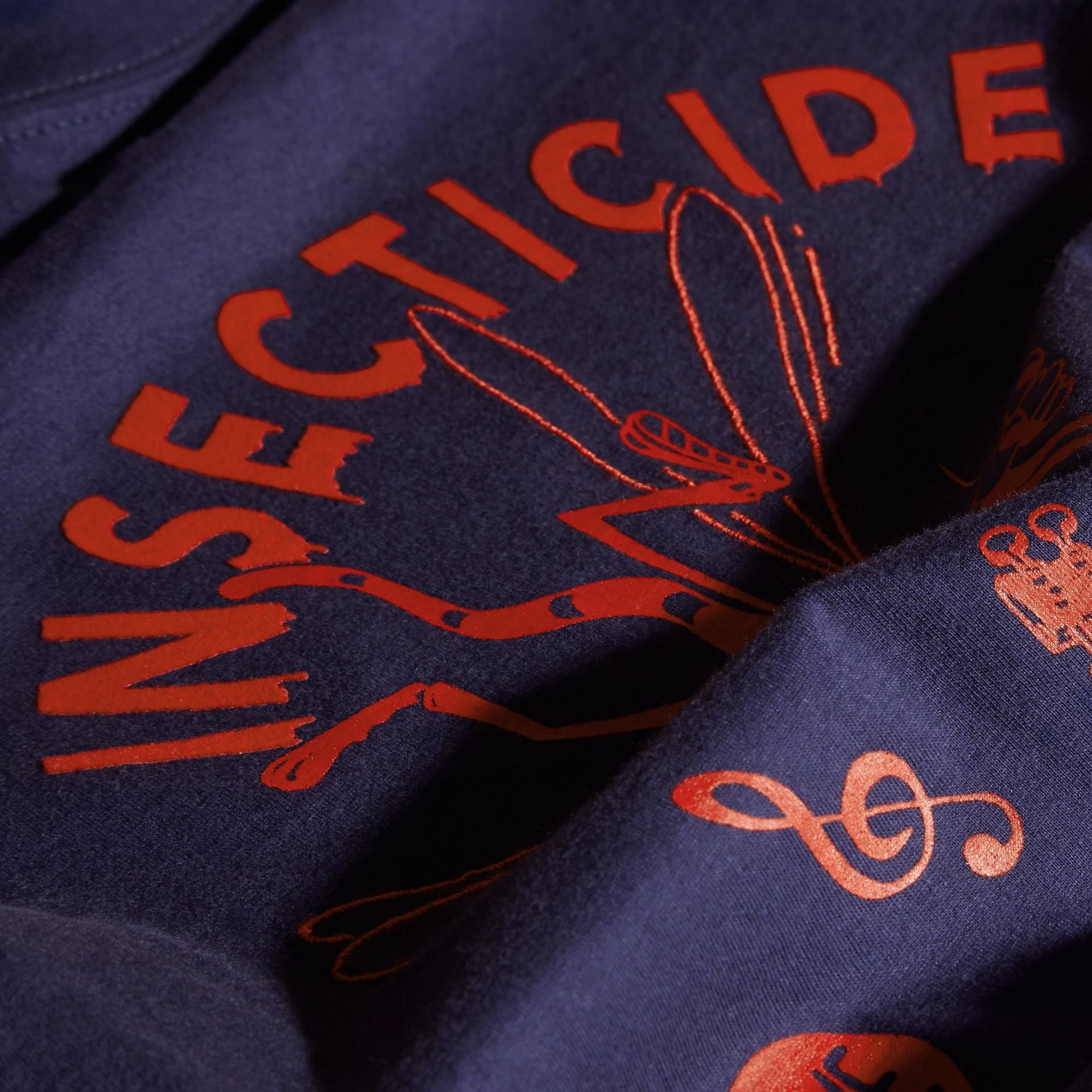 Indigo Baumwoll-T-Shirt mit verspieltem Druckmotiv - Galerie-Bild 2