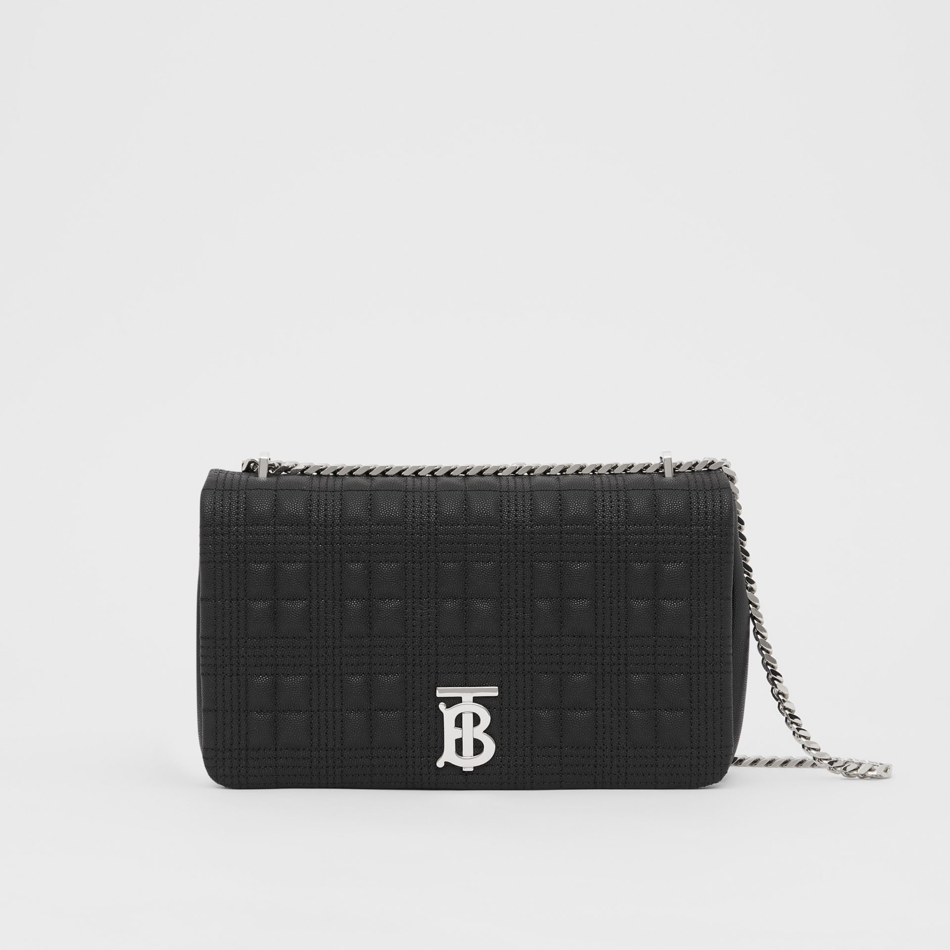 Medium Quilted Grainy Leather Lola Bag in Black - Women | Burberry - gallery image 0