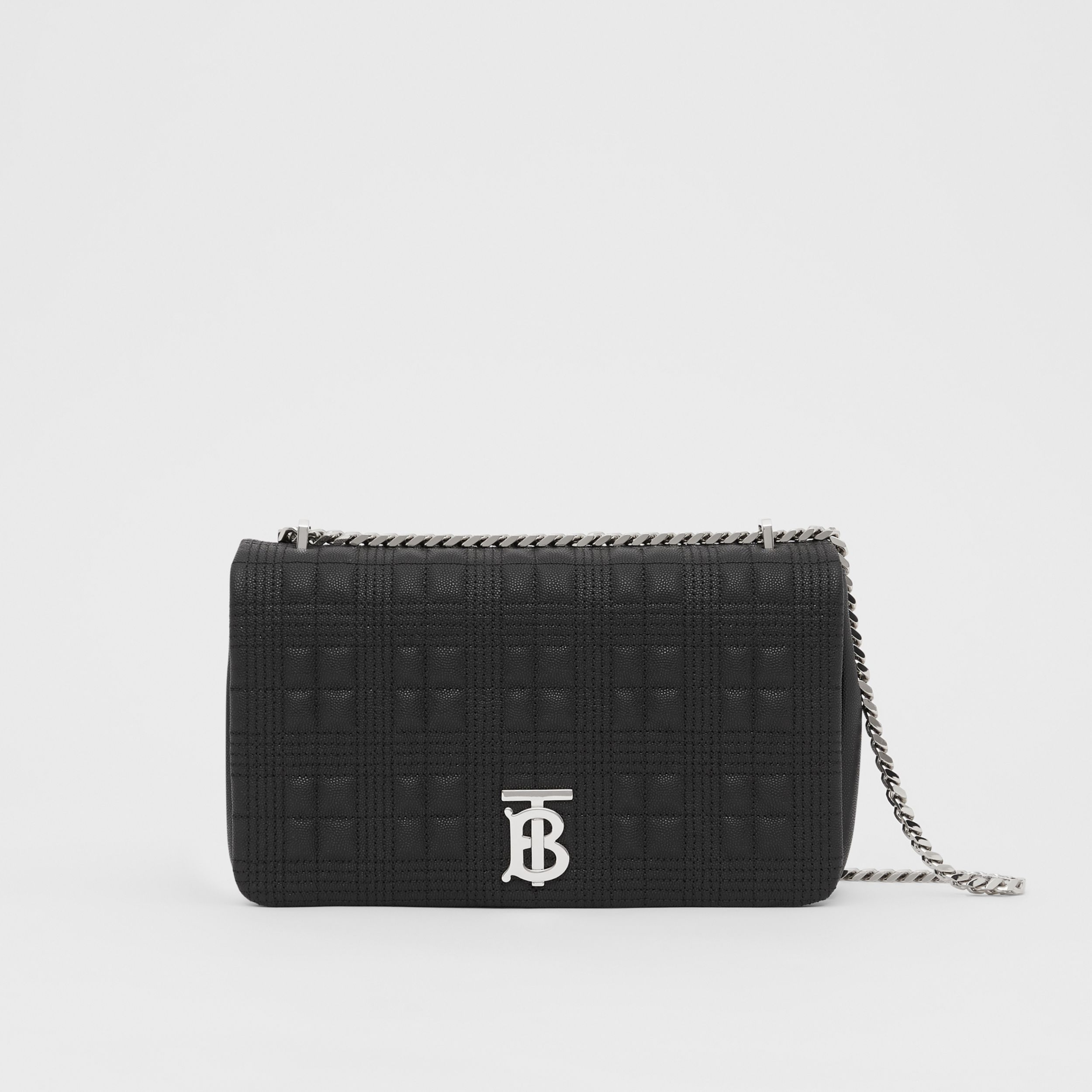 Medium Quilted Grainy Leather Lola Bag in Black - Women | Burberry - 1