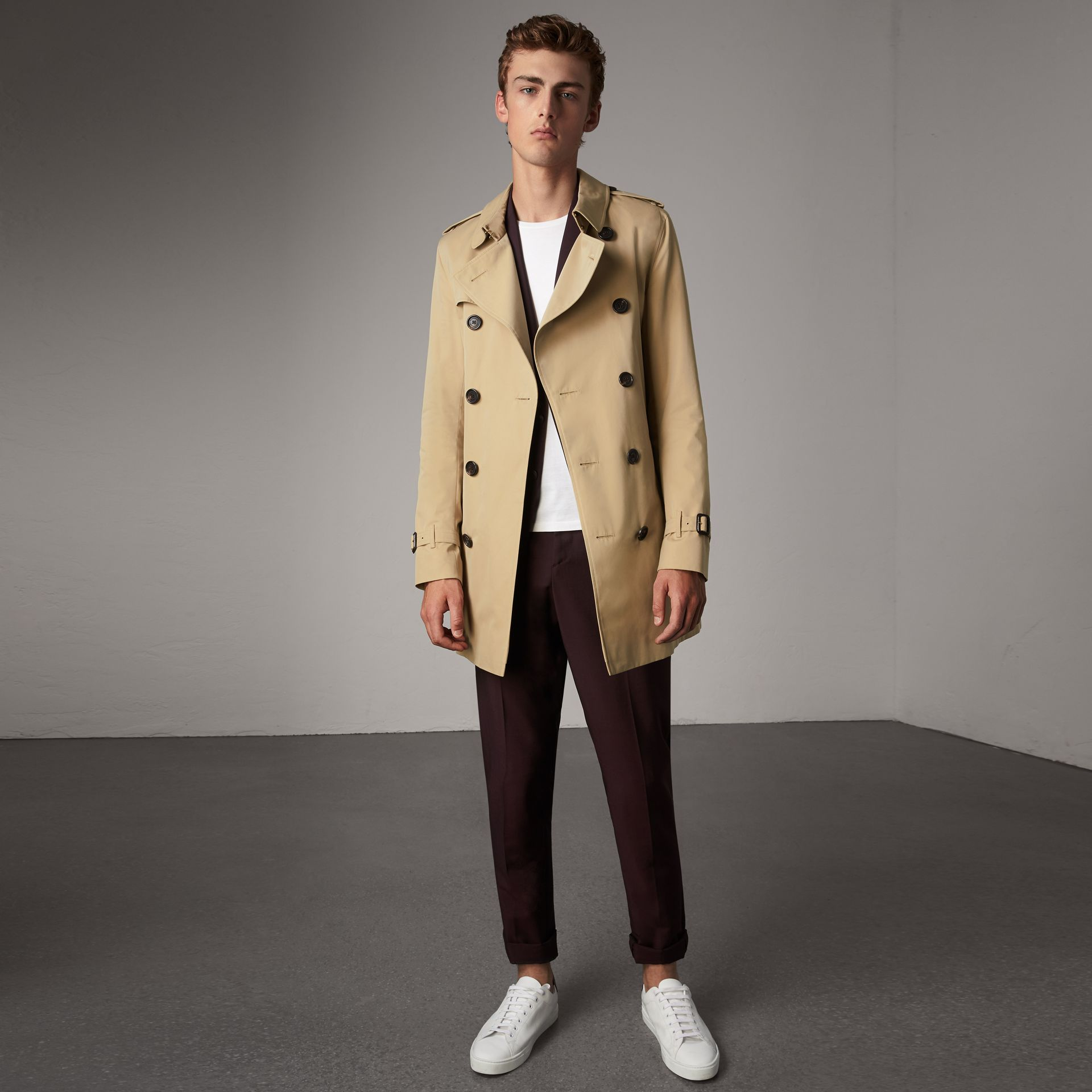 The Sandringham – Mid-length Trench Coat in Honey - Men | Burberry Singapore - gallery image 0
