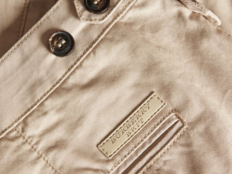 Straight Fit Cotton Chinos in Taupe - cell image 1