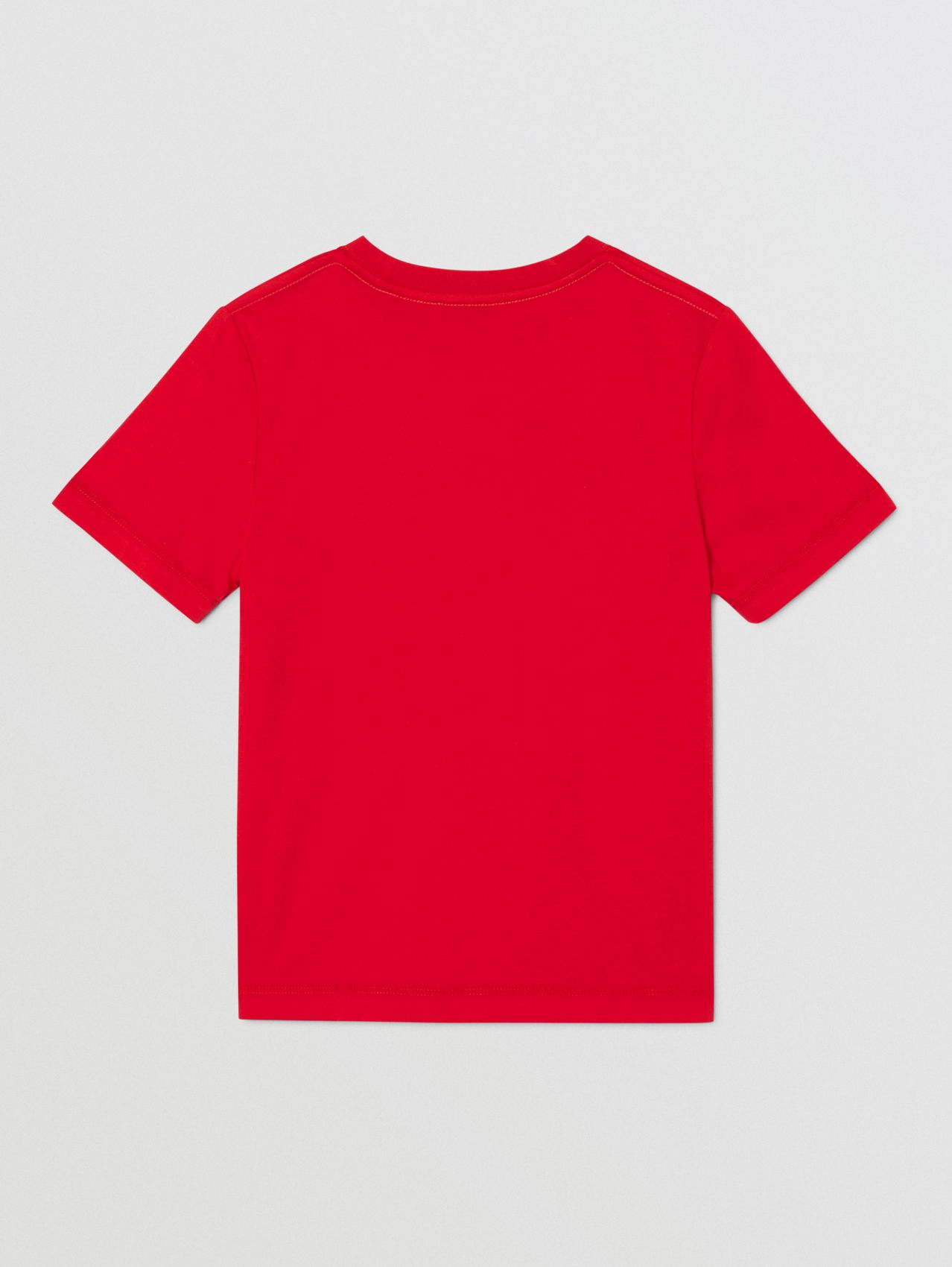 Logo Print Cotton T-shirt (Bright Red)