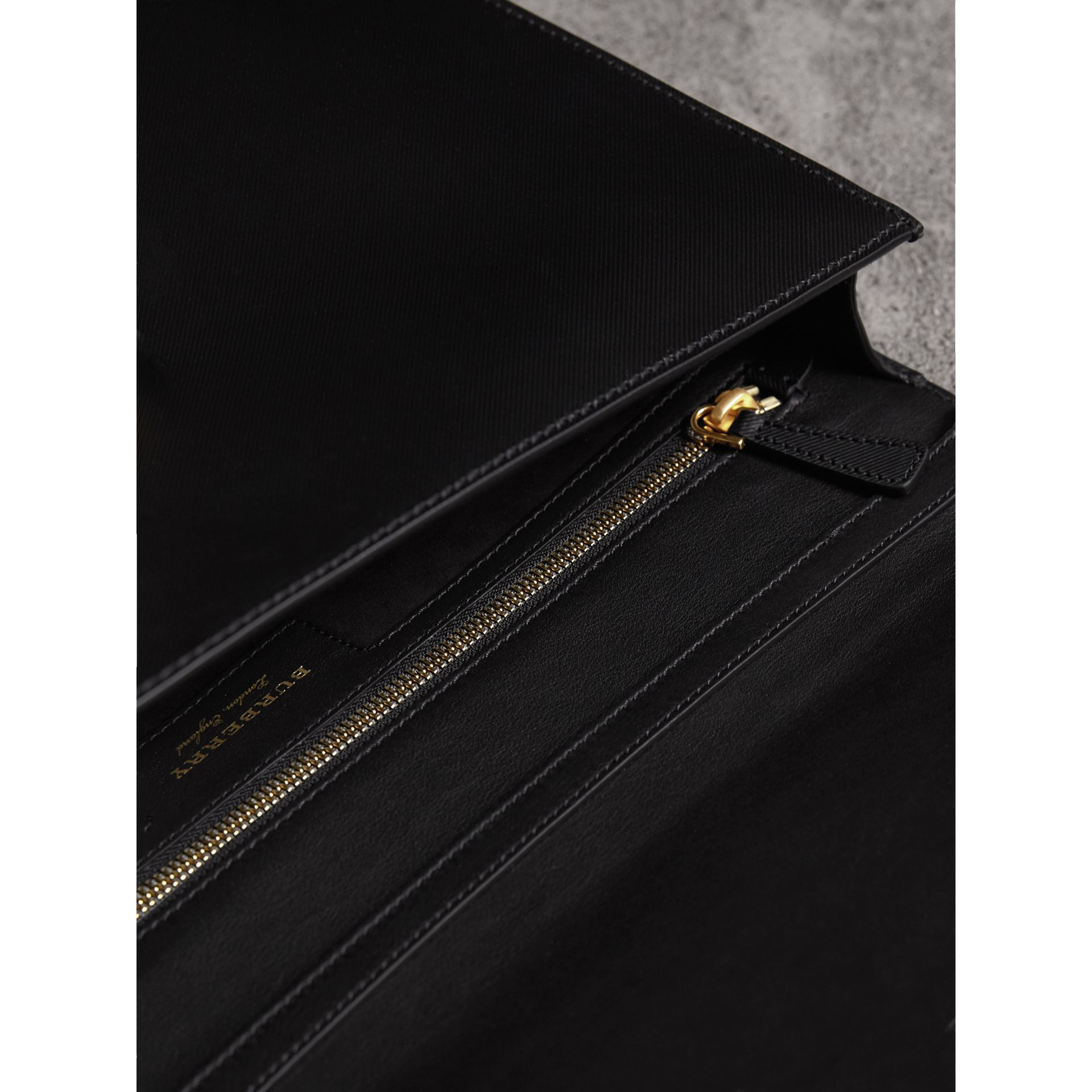 The Large DK88 Document Case in Black/black - Men | Burberry - gallery image 3