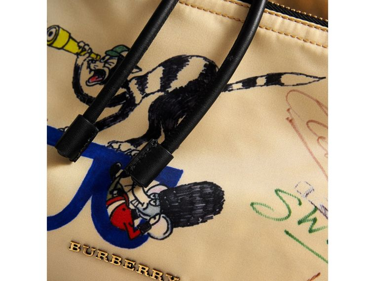 The Large Rucksack in Sketch Print Nylon in Honey | Burberry Singapore - cell image 1