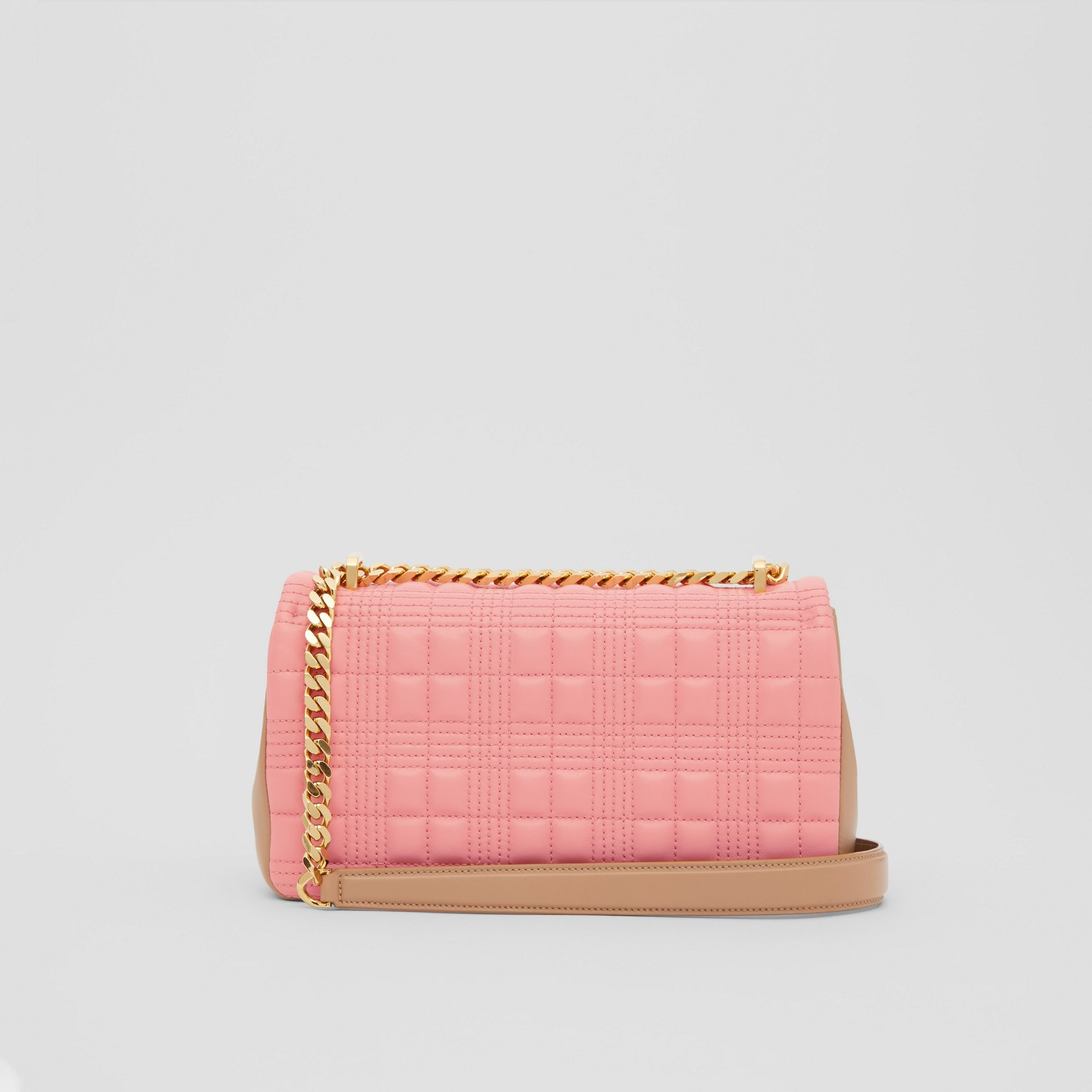 Small Quilted Two-tone Lambskin Lola Bag in Peony/camel - Women | Burberry United Kingdom - gallery image 7