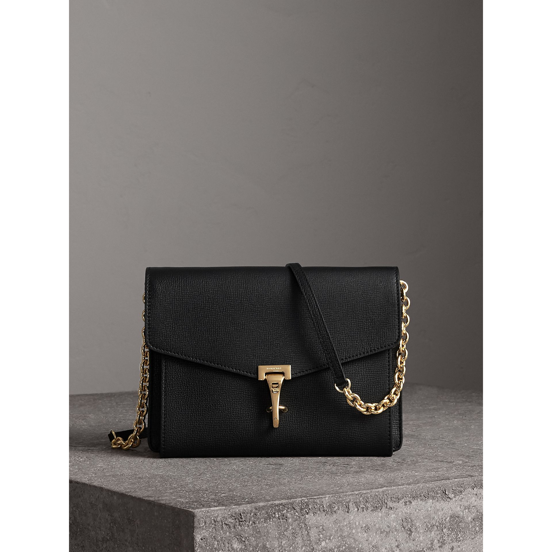 Small Leather Crossbody Bag in Black - Women | Burberry Hong Kong - gallery image 1